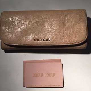 Pre-loved Miu Miu Pink Wallet