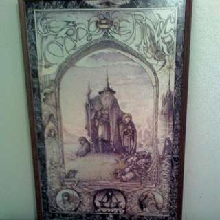Lord Of The Rings Collectable Poster In Timber Frame ( By Jimmy Cactus)