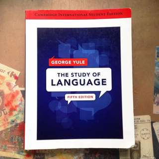 The Study Of Language George Yule 語言學概論