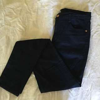 Cotton On Dark Blue Stretch Skinny Jean Size 10