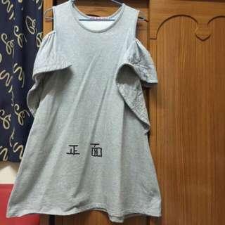 露肩棉質可愛裙👗