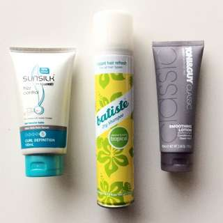 NEW Batiste Tony & Guy Sunsilk Hair Products Dry Shampoo Curl Sleek