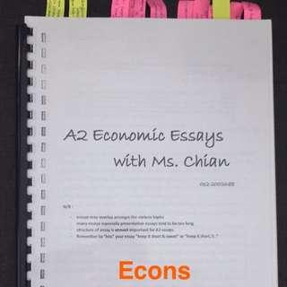 A-Levels Economic Essay