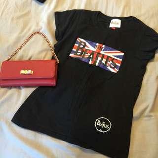 含運 倫敦購入 披頭四 Beatles 黑色T
