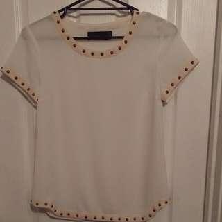 Studded Wish Blouse (Size 8/xs)