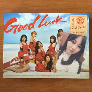 AOA Good Luck Week Ver Album ( Unsealed ) + Mina Photocard