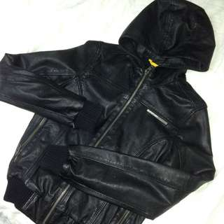 Womens Superdry Leather Bomber