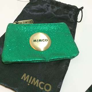 Green Mimco Pouch
