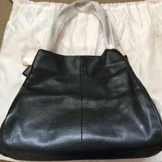 BN Authentic Coach Leather Black Bag