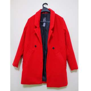 CHOIES - Red Overcoat - S