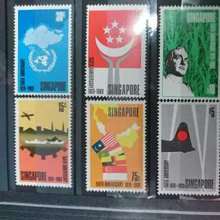 Singapore Stamp Set 1969 150th Anniversary Mint Lightly Hinged