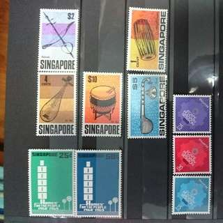 Singapore Stamp Set 1969 Mint Lightly Hinged