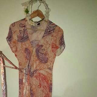DOTTI Maxi Paisley Wrap Dress