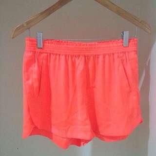 Bardot Orange Shorts, Size 10