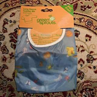 Green Sprouts Long sleeve Toddler Bib