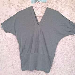 Grey Ribbed Pullover