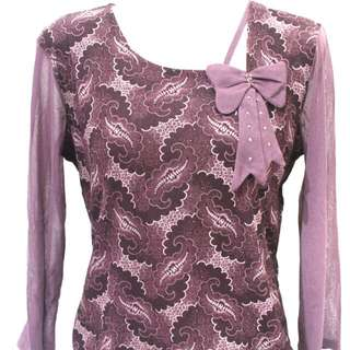Yang Mei Purple Ribbons Blouse