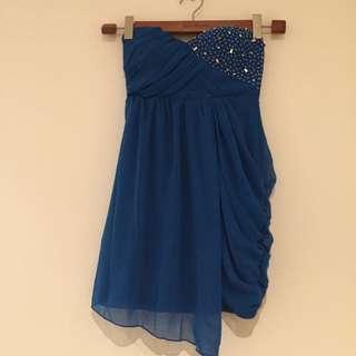Blue Dress With Studs