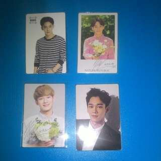 EXO NR 一代 二代 護唇膏小卡 SUM 餅乾卡 2016 年曆卡 桌曆卡