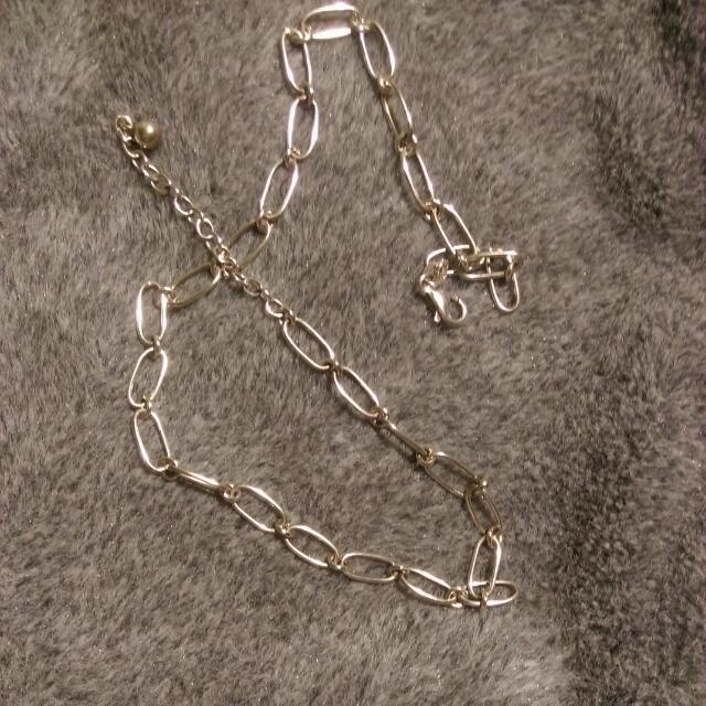 純銀項鍊(可當手鍊全長43)