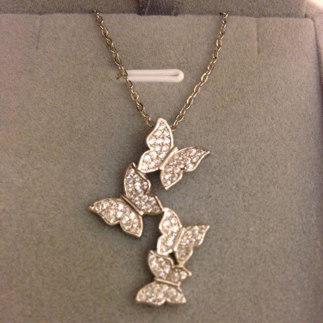 精緻蝴蝶純銀項鍊