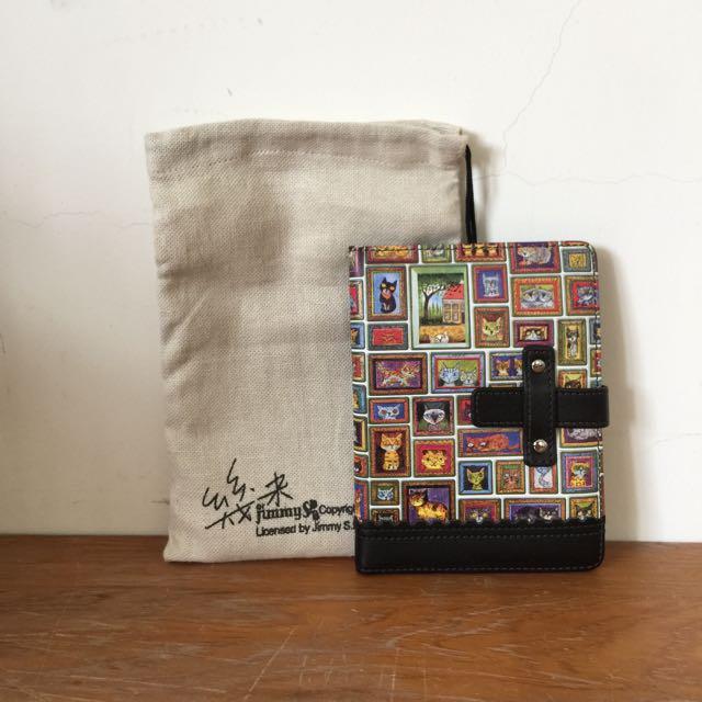 幾米 黑色貓咪皮夾/護照夾
