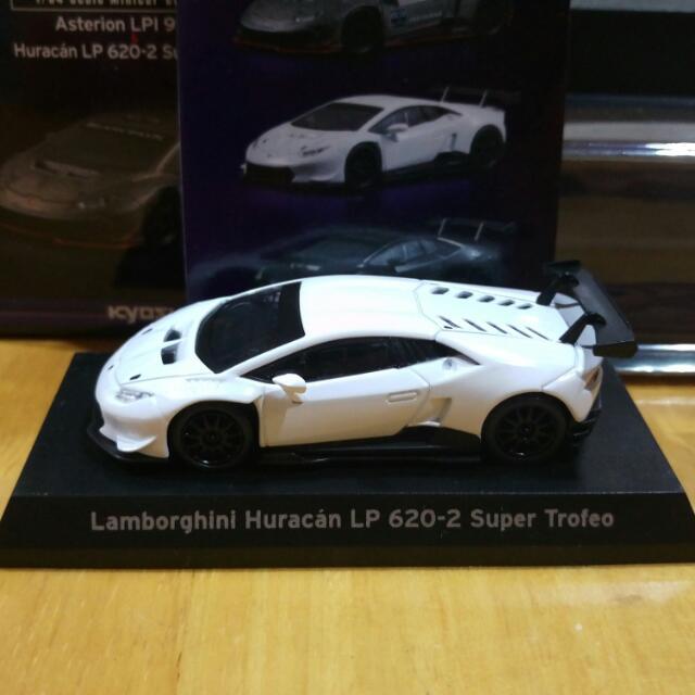 京商 kyosho 1/64 Lamborghini LP 620-2 Super Trofeo 冰晶白