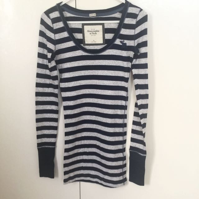 Abercrombie&Fitch Stripes Long Tshirt/ Mini Dress