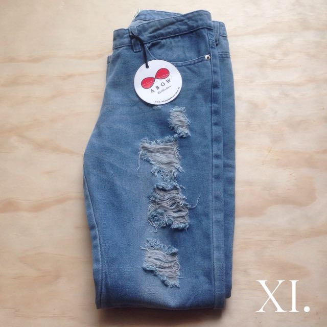 Abow Blue Denim Ripped Jeans