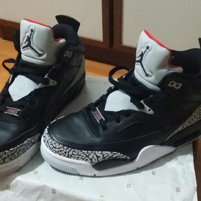 half off cab9d 98fdd ... usa air jordan son of mars black cement low sneaker size9 mens fashion  on carousell 65841