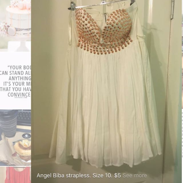 Angel Biba White Dress. Size 10.