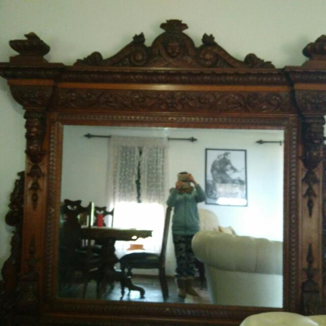 Antique Mirror English Oak