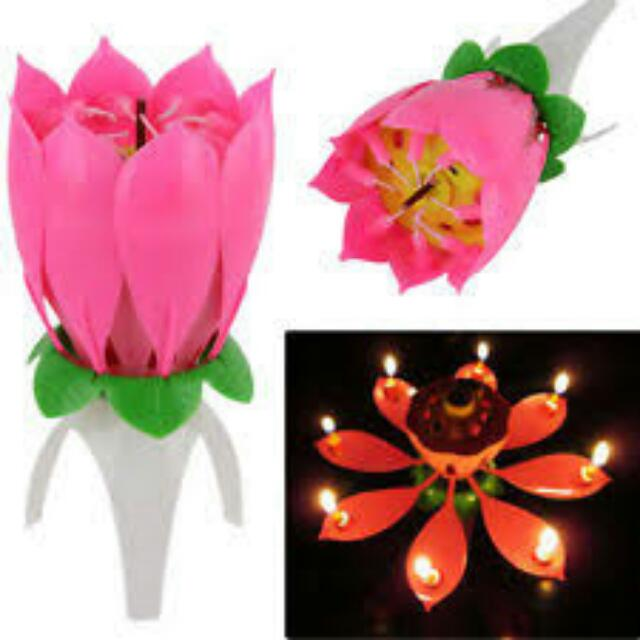 Birthday Flower Candle Opens Rotates And Plays Happy Song