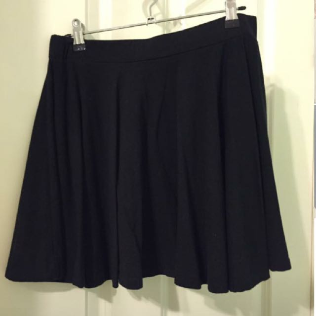 Black Skater Skirt. Size M.