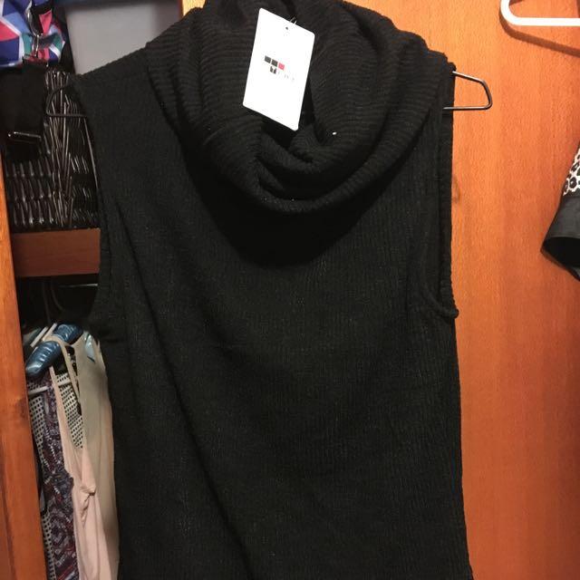 """Black """"TEMT"""" Knit"""
