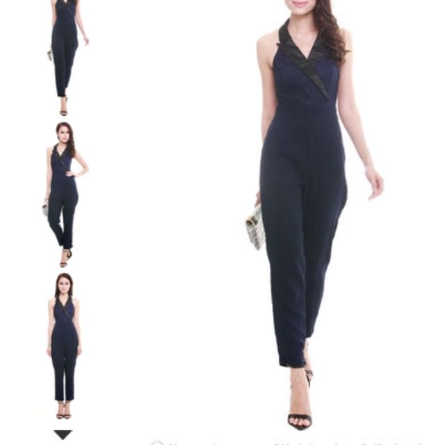 Sales BN MDS LACE HALTER JUMPSUIT BRAND NEW