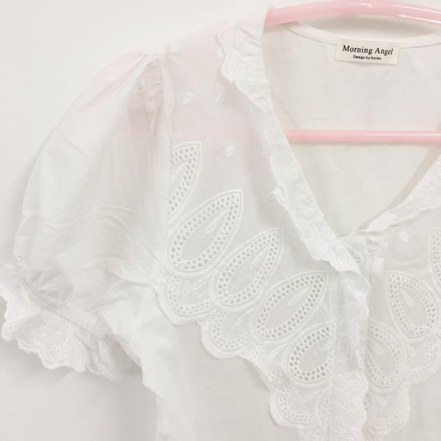 Brand new Korean Style V Shape White Shirt