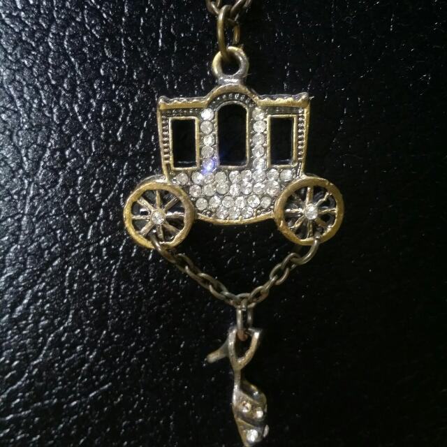 Carriage and Heels Necklace
