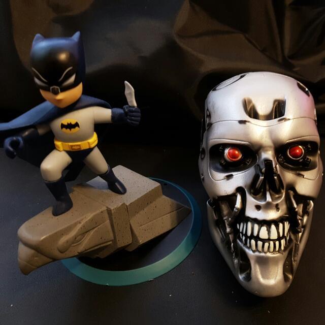 Collectible. Batman, Terminator Skull & Doc Brown