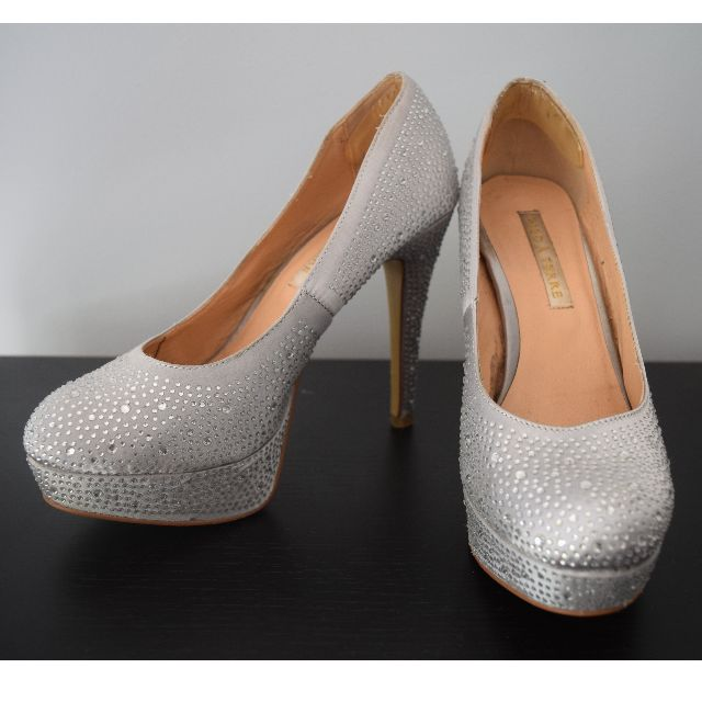 Diamante Silver stilettos