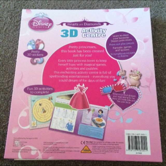 Disney Princess 3D Activity Book