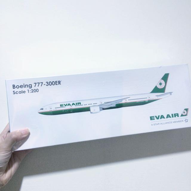 長榮航空EVA AIR 波音777 Boeing 777-300ER 模型飛機/客機/民航機 1/200