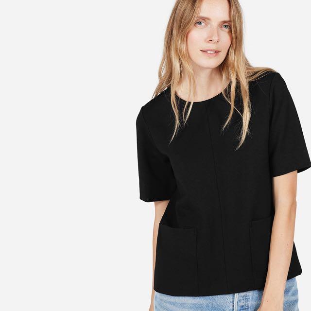 Everlane Black Ponte Shirt