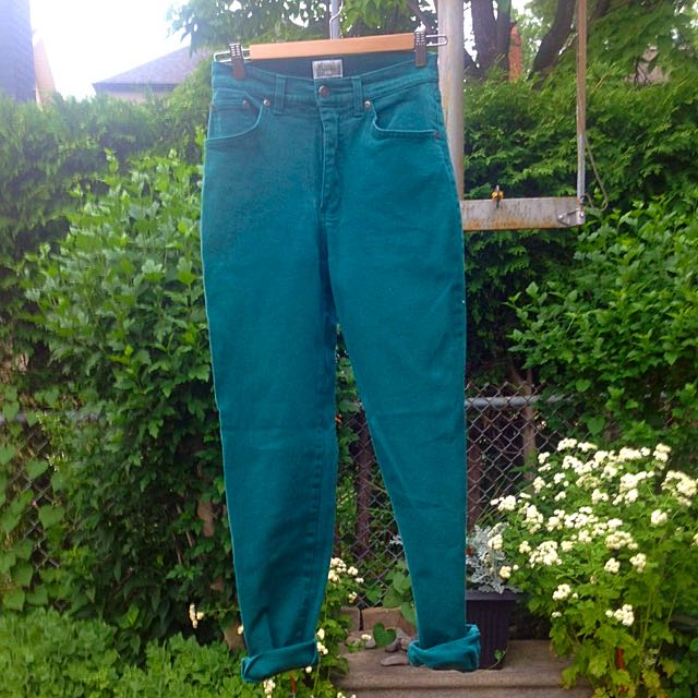 Forest Green High rise Jeans