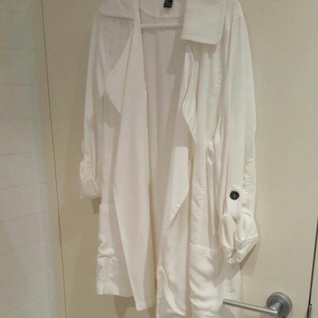 Forever 21 White Waterfall Jacket