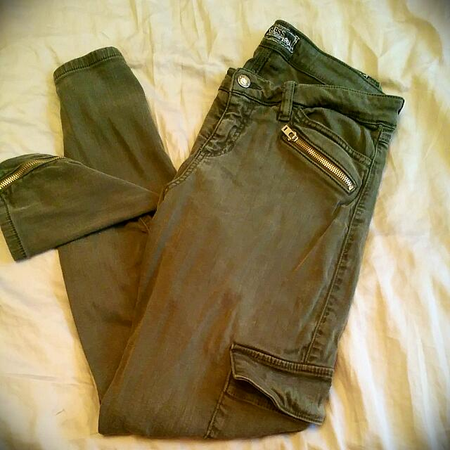 Guess Army Green Jeans