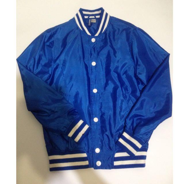 H&M 風衣棒球外套 S號 男生合身款