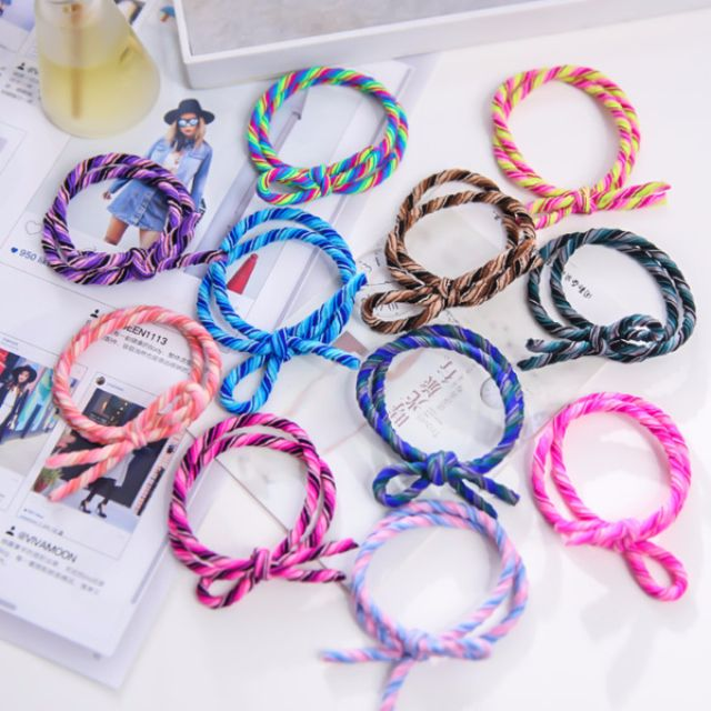 [Hair-tie] Colorful Double Hairtie