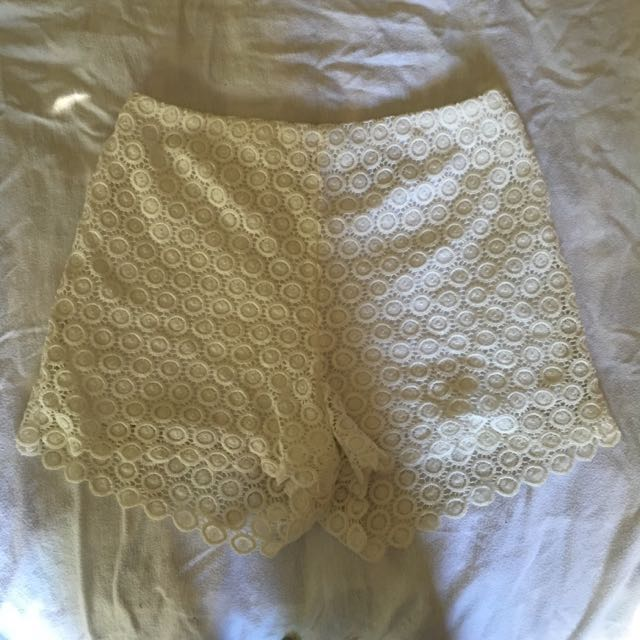 Lace Shorts High Waisted Miss Shop Myer Size 12