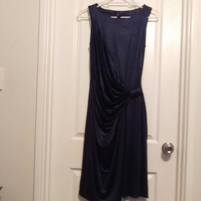 Midnight Blue Metallic MNG Suit Dress Size Eur S